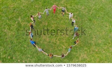 Сток-фото: человека · женщину · танцы · американский · парка · трава