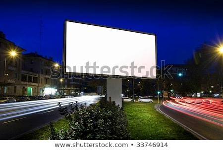 Witte display reclame verkeer nacht business Stockfoto © cozyta