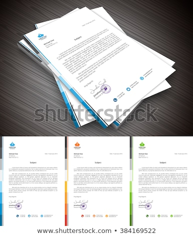 business letterhead creative design in orange color Stock photo © SArts