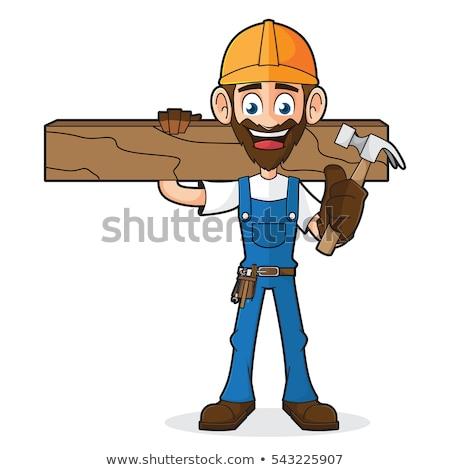 Cartoon · плотник · мастер · на · все · руки · молота - Сток-фото © krisdog