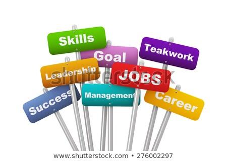 Stockfoto: 3D · woord · teamwerk · twee · witte · business