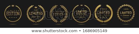premium limited edition golden label or badge design Stock photo © SArts
