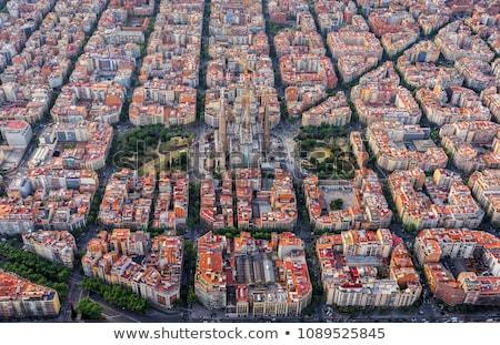 Részletek família Barcelona Spanyolország híres építész Stock fotó © joannawnuk