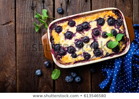 Mirtillo cheesecake buio legno rustico top Foto d'archivio © yelenayemchuk