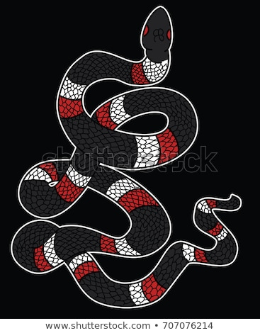 Red Snake Isolated Illustration. Cartoon Reptile Stock photo © robuart