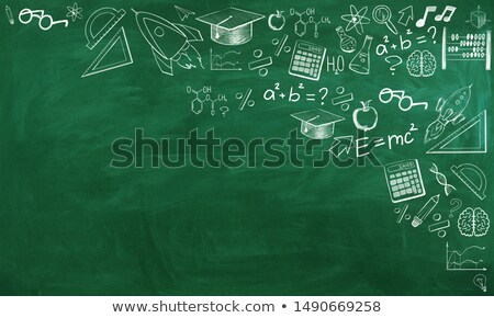 Business Education on Chalkboard with Doodle Icons. 3D Render. Stock photo © tashatuvango