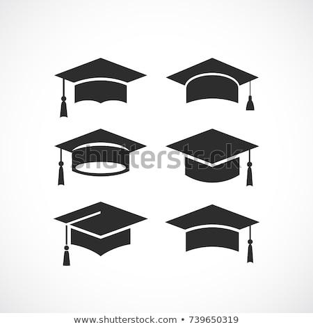 ukończeniu · cap · dyplom · ilustracja · książki - zdjęcia stock © timurock