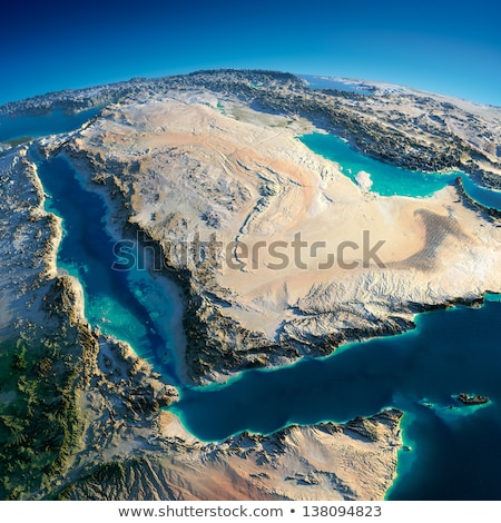 United Arab Emirates in red on Earth Stock photo © Harlekino