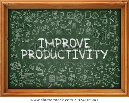 Produktivitás javulás kézzel rajzolt zöld tábla 3D Stock fotó © tashatuvango
