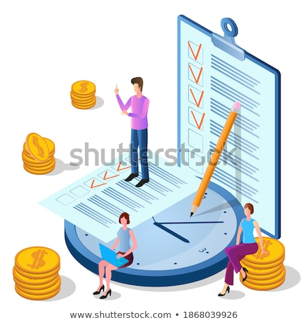 Developing Business Growth Strategy Concept on Clipboard. 3D. Stock photo © tashatuvango