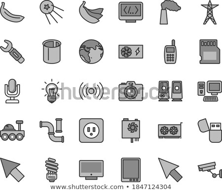 Mobile Device Repair - modern vector line design single icon. Stock photo © Decorwithme