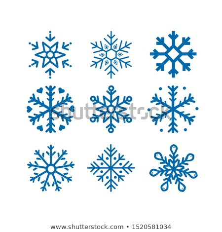 collection of snow stars stock photo © opicobello