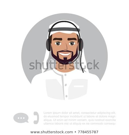 ügyfélszolgálat · képviselő · globális · ikon · számítógép · internet - stock fotó © nikodzhi