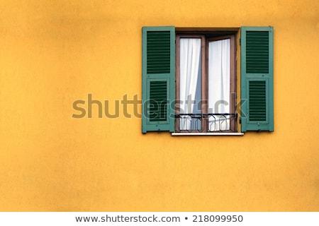 Edad mediterráneo ventana cerrado capeado Foto stock © stevanovicigor
