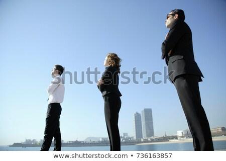 Equipe de negócios olhando horizonte negócio homem futuro Foto stock © IS2