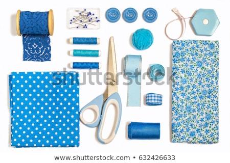 Szycia górę widoku elementy ilustracja nożyczki Zdjęcia stock © lenm
