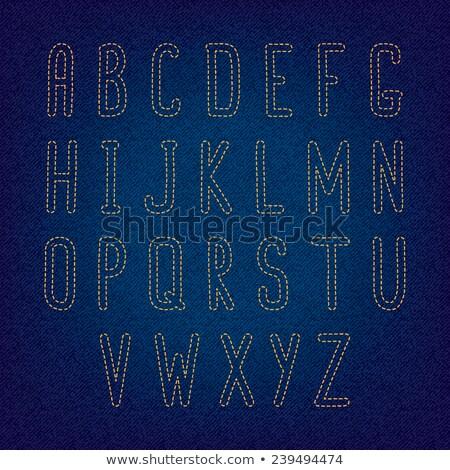 джинсов Швы типографики иллюстрация слово искусства Сток-фото © lenm
