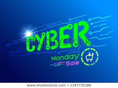 concept cyber Monday  virtual cart Stock photo © Olena
