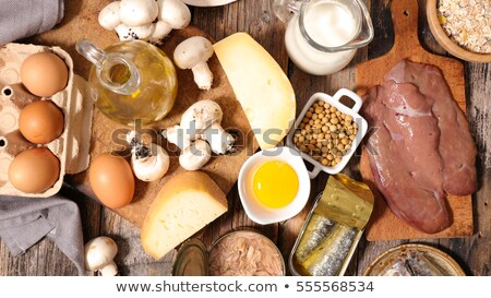assorted food high in vitamin D Stock photo © M-studio