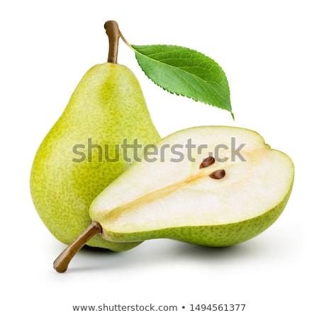 Foto stock: Peras · rico · colheita · dois · flor · fruto