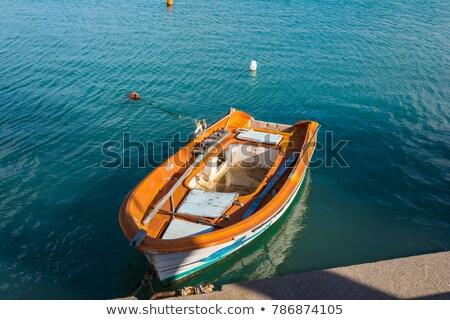 古い 漁船 ポート 東部 ギリシャ 木材 ストックフォト © ankarb