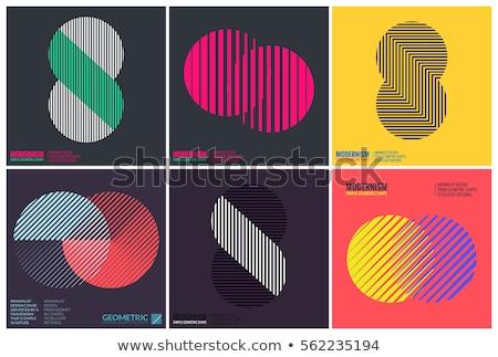 чистой минимальный линия шаблон дизайна вектора Сток-фото © SArts