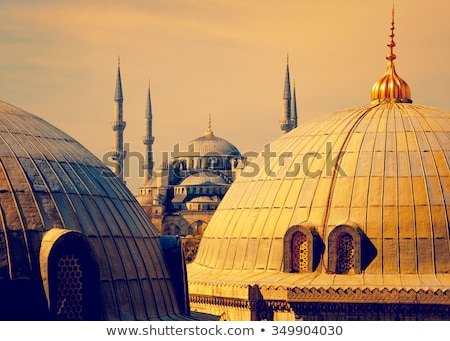 View the dome of the mosque with ancient basilica Stock photo © artjazz