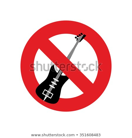 stop music ban for rock music red forbidding character forbid stock photo © popaukropa