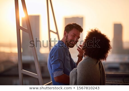 sensual man hugging beautiful young woman stock photo © artfotodima