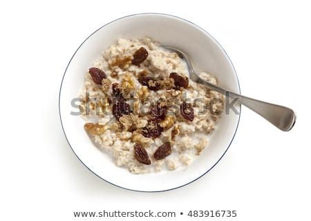 colher · doce · passas · de · uva · branco · comida · fruto - foto stock © digifoodstock