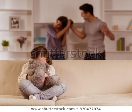 страшно · жена · плачу · насильственный · муж · социальной - Сток-фото © dolgachov