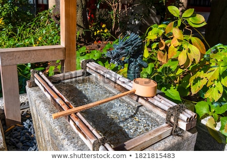 purification fountain at a shrine tokyo japan stock photo © daboost