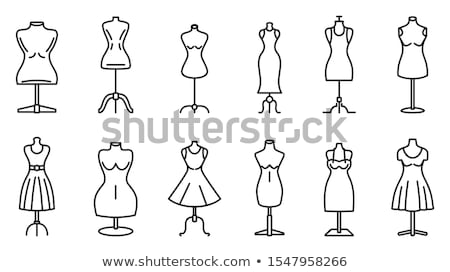 Tailor mannequin with dress isolated vector icon Stock photo © studioworkstock