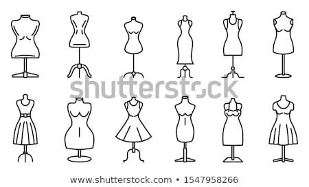 szabó · próbababa · ruha · izolált · vektor · ikon - stock fotó © studioworkstock