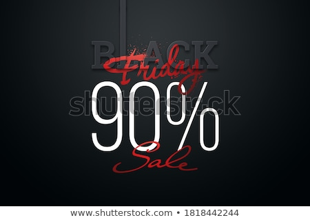 Foto stock: Dark Badge And Red Sale Sign 3d Rendering