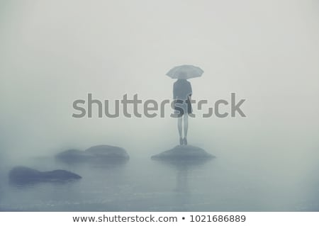 Lány áll kövek nyár láb női Stock fotó © IS2