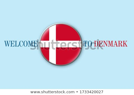 Red stamp on a white background - Welcome to Denmark Stock photo © Zerbor
