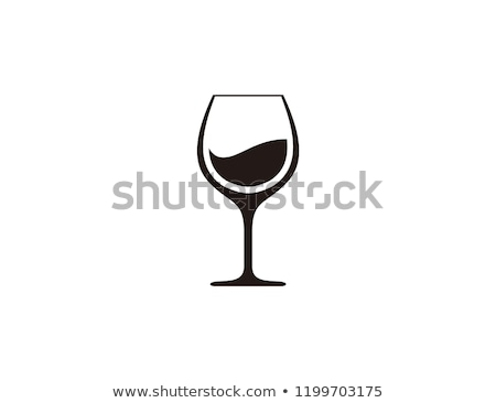 Silhouette of wine glass isolated on black Stock photo © caimacanul