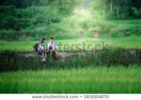 3  小学校 学生 Tシャツ 幸福 座って ストックフォト © IS2