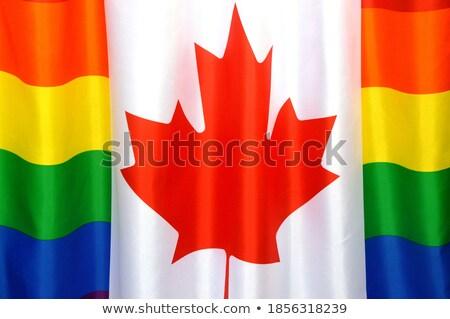 カナダ フラグ シンボル トレラント ゲイ にログイン ストックフォト © popaukropa