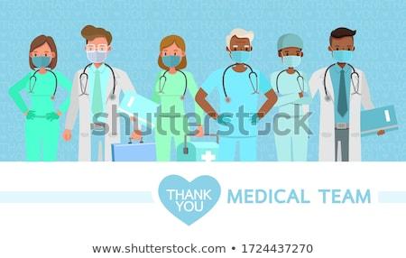 набор врач медицинская помощь иллюстрация детей медицинской Сток-фото © bluering