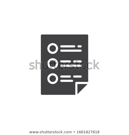 Check Document file vector icon. flat sign for mobile concept and web design. Paper doc simple solid Stock photo © kyryloff