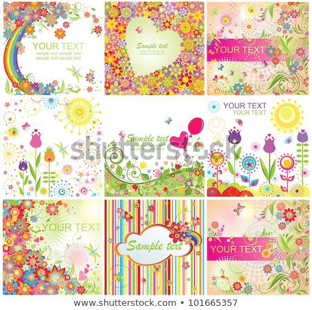Happy Mothers Day Greeting card with tulip flower on cloud background. Vector Celebration Illustrati Stock photo © articular