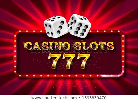 vector illustration on a casino theme with shiny neon light letter and poker cards on red background stock photo © articular