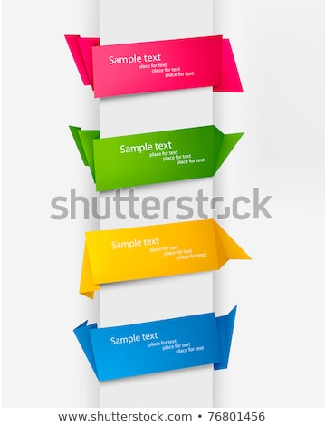 abstract origami banners set with text space Stock photo © SArts
