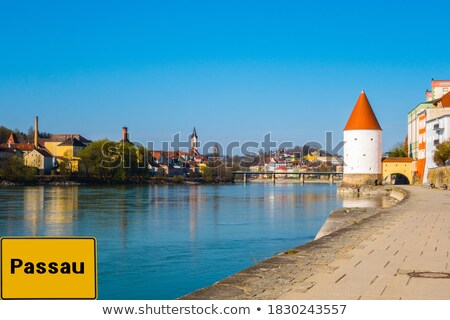 Riverside at the river Inn in Passau Stock photo © manfredxy