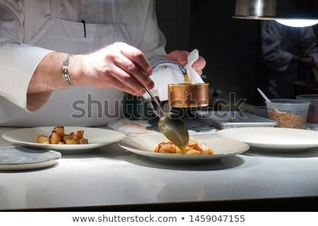 Western cuisine cook man Stock photo © toyotoyo