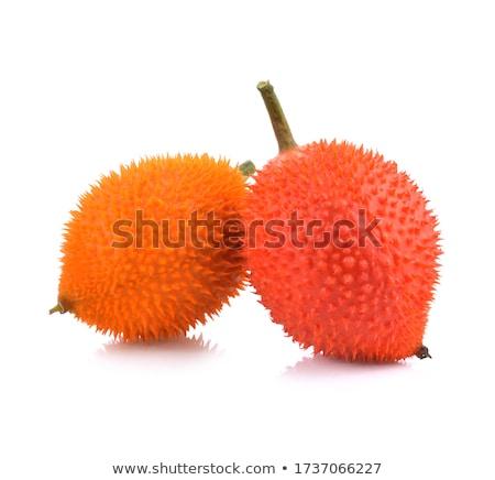 Foto stock: Aislado · blanco · árbol · naturaleza · hoja · frutas