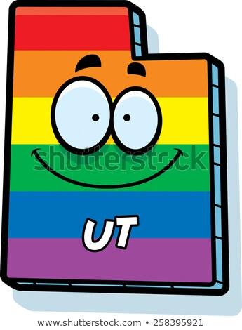 Cartoon Utah Gay Marriage Stock photo © cthoman