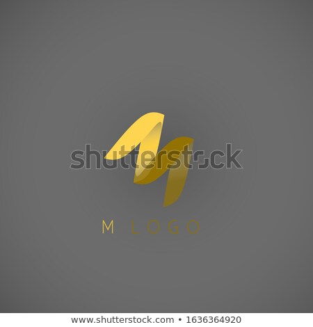Orange Folded Paper Letter M Vector Illustration Stock photo © cidepix